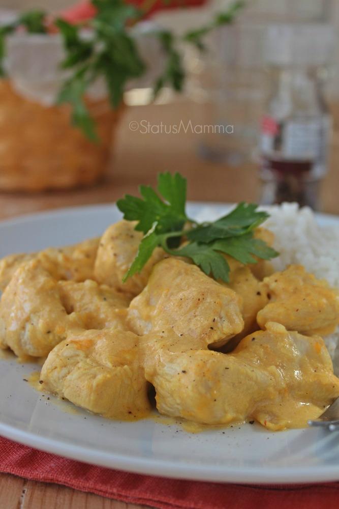 Bocconcini di tacchino  al curry ricetta semplice e veloce foto statusmamma ricetta cucinare secondo blog