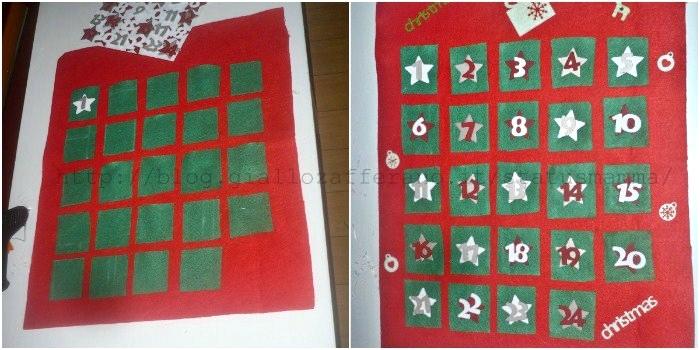 Calendario Dellavvento In Feltro.Il Calendario Dell Avvento