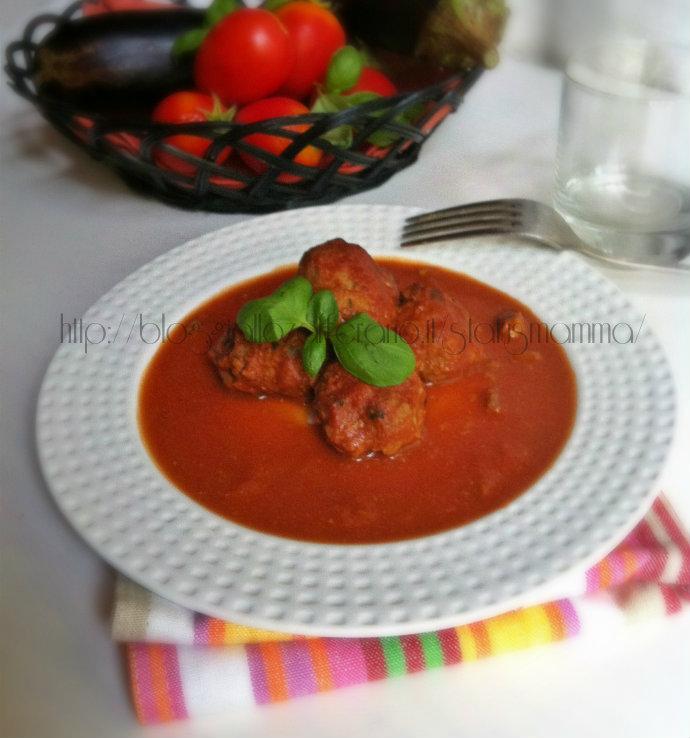 Polpettine di magro alla norma ricetta veloce blog statusmamma bambini  cucinare piatto unico status mamma tutorial foto
