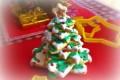 Albero di Natale biscotti dolci e ghiaccia reale