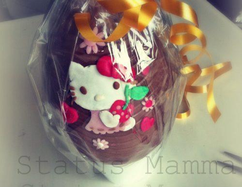 Topper Hello Kitty 2 D in pasta da zucchero