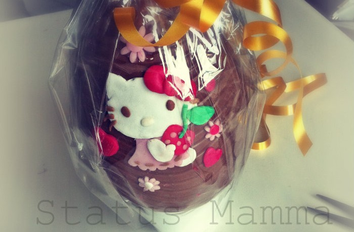 Topper Hello Kitty 2 D in pasta da zucchero
