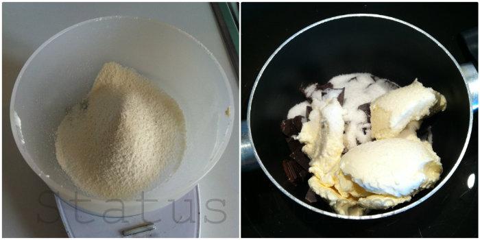 Tortino morbido al cioccolato fondente ricetta riciclaggio uova pasqua dolci facile e veloce foto tutorial status mamma