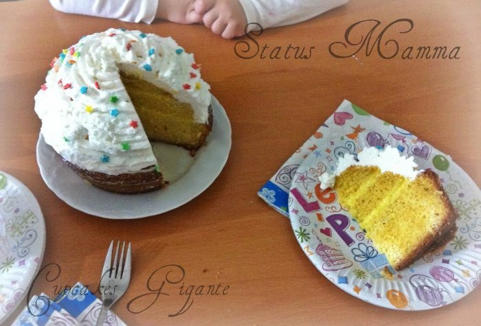 """Cupcake gigante idea torta di compleanno facile e veloce """"Giant cupcake"""""""