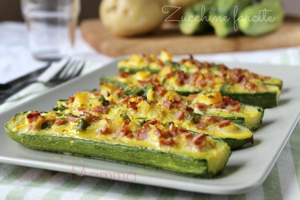 Zucchine farcite ricetta sfiziosa for Cucinare le zucchine