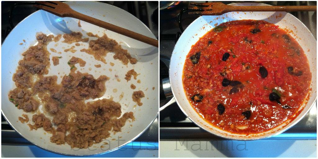 Pasta con sugo di tonno all'arrabbiata ricette statusmamma foto tutorial primo veloce