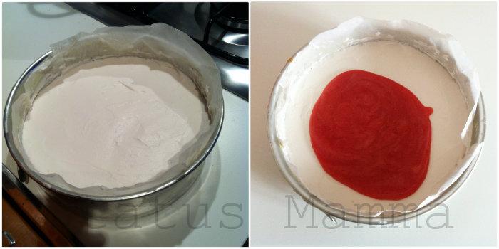 Torta fredda alla frutta Cheesecake fruit ricetta dolci freddi statusmamma tutorial foto  cilegia albicocca fragola