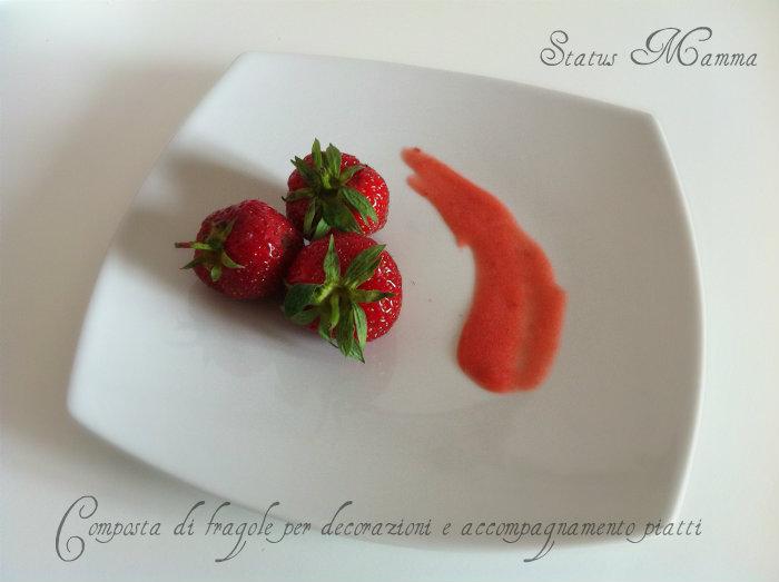 Composta di fragole per decorazioni e accompagnamento piatti