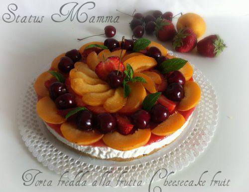 Torta fredda alla frutta Cheesecake fruit