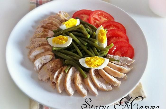 Insalata di pollo con fagiolini verdi