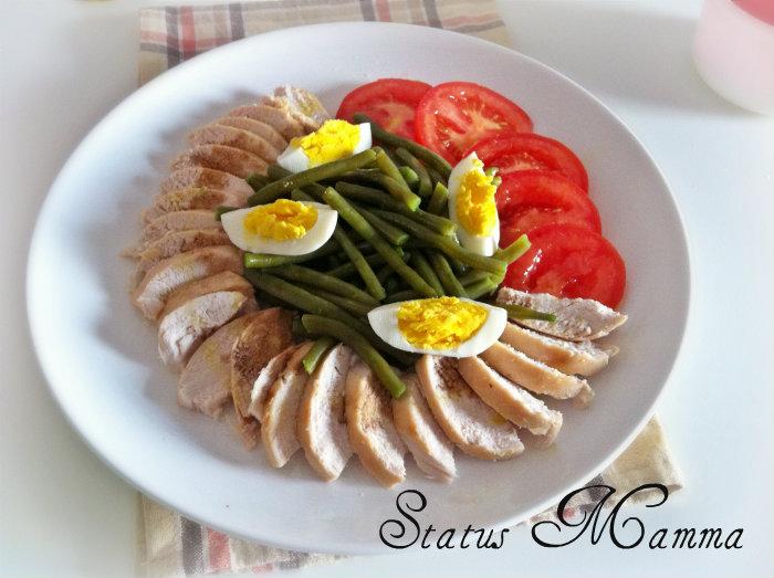 Insalata di pollo con fagiolini verdi for Cucinare fagiolini