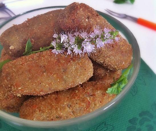 Crocchette di melanzana alla menta  ricetta sfiziosa