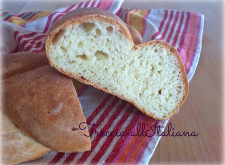 Treccia di pane all'Italiana impasto lievitato casalingo