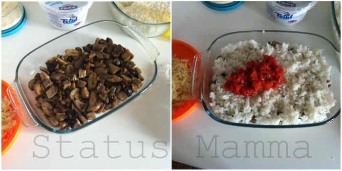 Gratin di riso ai funghi con salsa allo yogurt status mamma for Cucinare yogurt greco