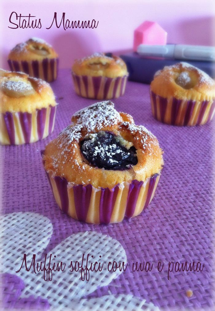 Muffin soffici con uva e panna ricetta dolce monoporzione statusmamma Giallozafferano cucinare blogGz Tutorial foto