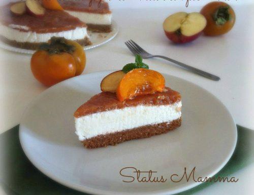 Cheesecake allo yogurt con miele e composta di loti