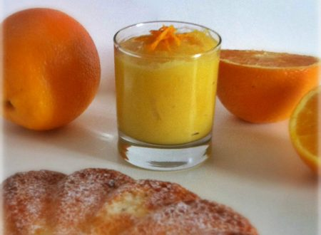 Crema all'arancia dolce al cucchiaio o farcie
