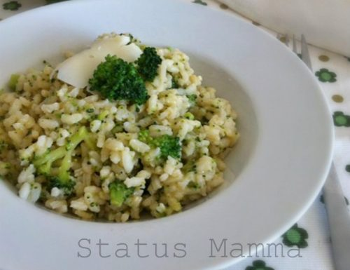 Risotto ai broccoli con provolone