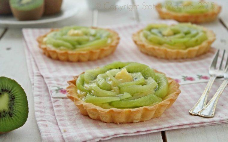Pastine ai Kiwi ricetta dolce con la frutta