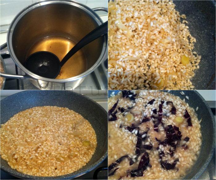 Risotto al radicchio ricetta primo Statusmamma blogGz Giallozafferano foto tutorial Asiago cucinare ricetta Grana porri