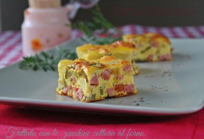 Frittata con le  zucchine cottura al forno.
