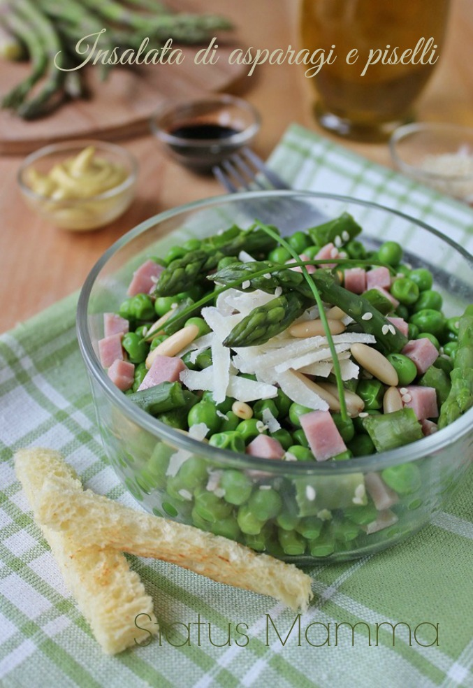 Insalata con asparagi e piselli i ricette con asparagi cucinare facile semplice veloce Statusmamma BlogGz Giallozafferano foto tutorial