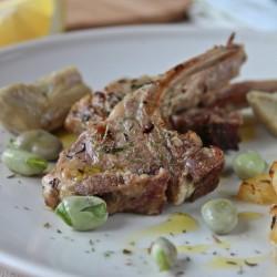 Costolette di Agnello con carciofi e fave ricetta cucinare secondo Pasqua Pasquale salato Statusmamma Giallozafferano blogGz foto blog