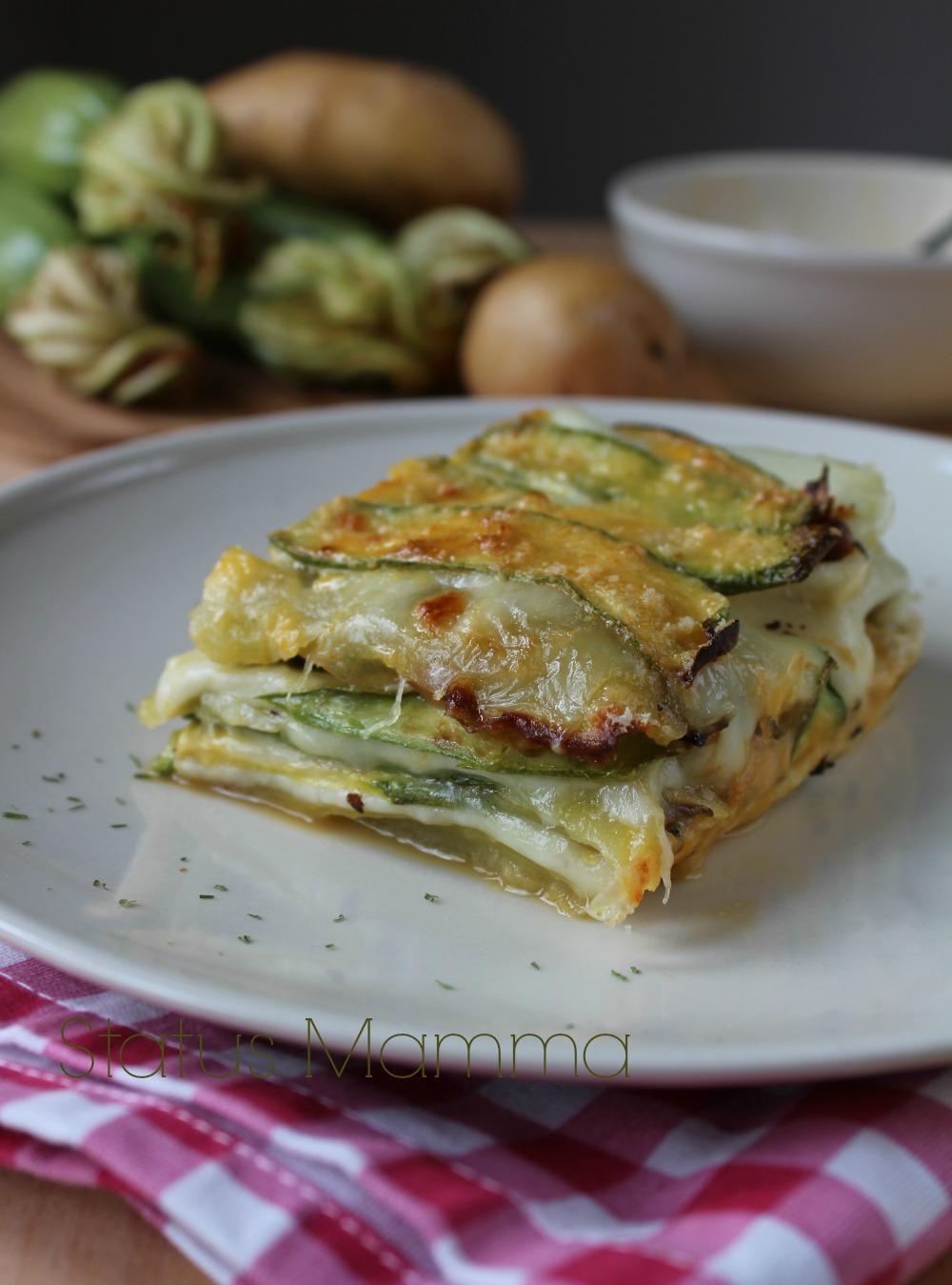 parmigiana bianca senza pomodoro di zucchine patate e mozzarella statusmamma ricetta cucinare foto bloggz blog tutorial