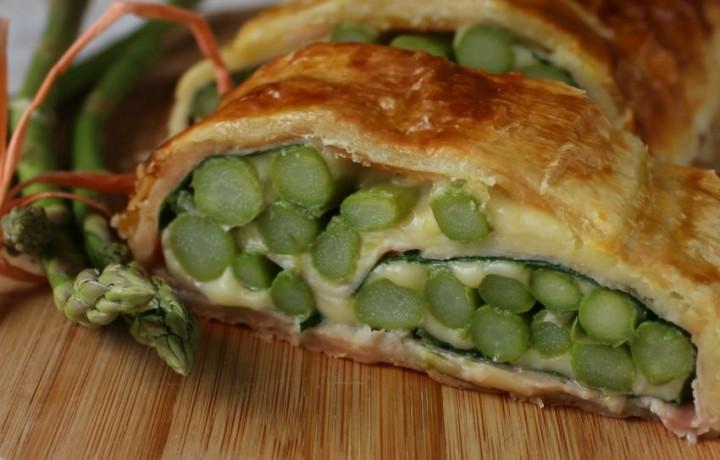 Strudel di asparagi al formaggio ricetta semplice