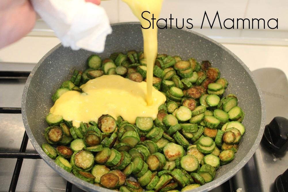 Frittata  di zucchine al formaggio ricetta secondo fingerfod antipasto verdure uova Statusmamma Giallozafferano blogGz blog ricetta cucinare per bambini