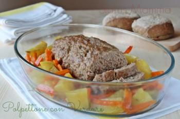 Polpettone con verdura ricetta con concordo secondo Statusmamma blogGz Giallozafferano foto blog blogger tutorial ricetta cucinare bambini carne manzo carote patate al forno