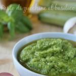 Pesto di zucchine al basilico