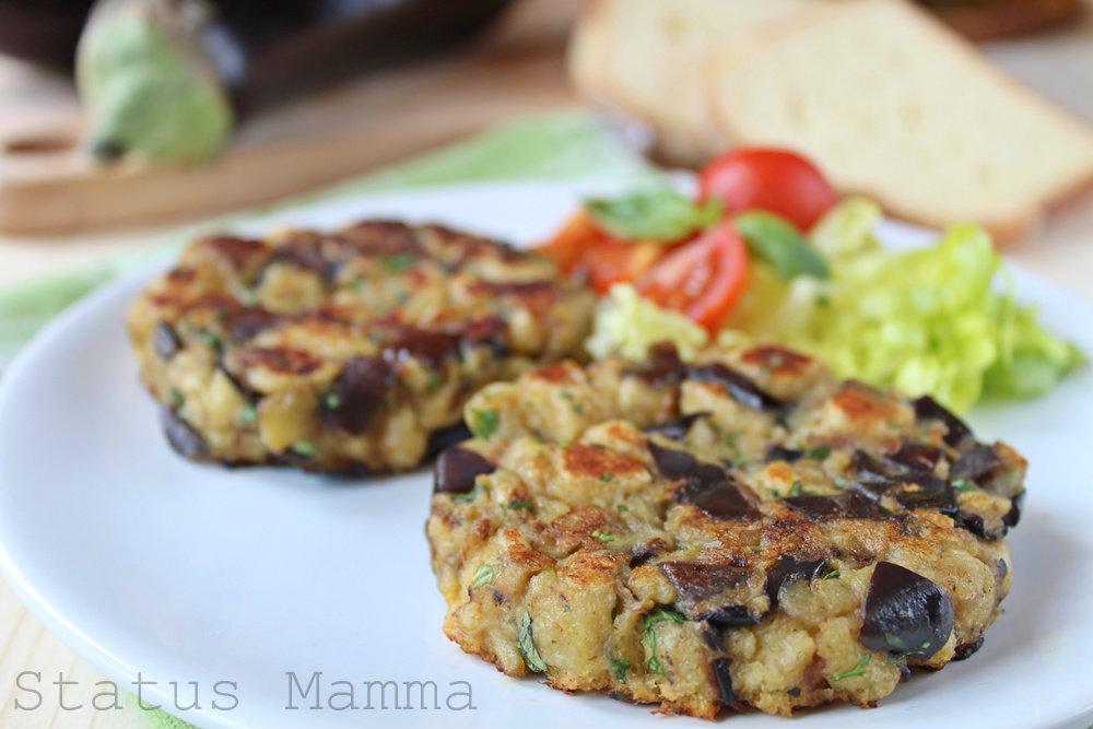 hamburger di melanzane vegetariano - Come Cucinare Hamburger Di Carne