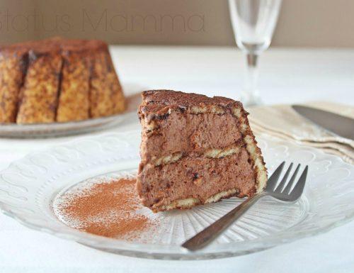 Torta fredda di Pavesini con panna e nutella