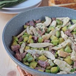 Straccetti di pollo crudo e zucchine ricetta secondo con verdure semplice veloce economico Statusmamma blogGz Giallozafferano foto tutorial passo passo