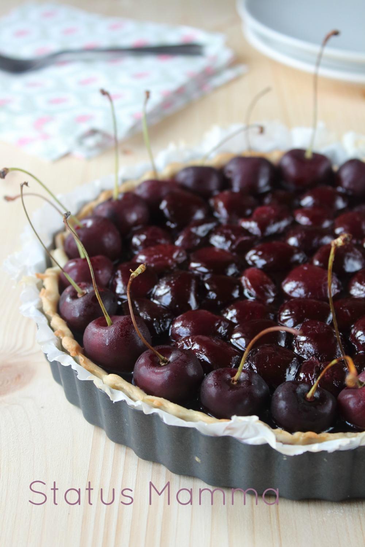 Crostata di ciliegie con panna cotta  ricetta dolce estivo facile veloce Statusmamma Giallozafferano blogGz