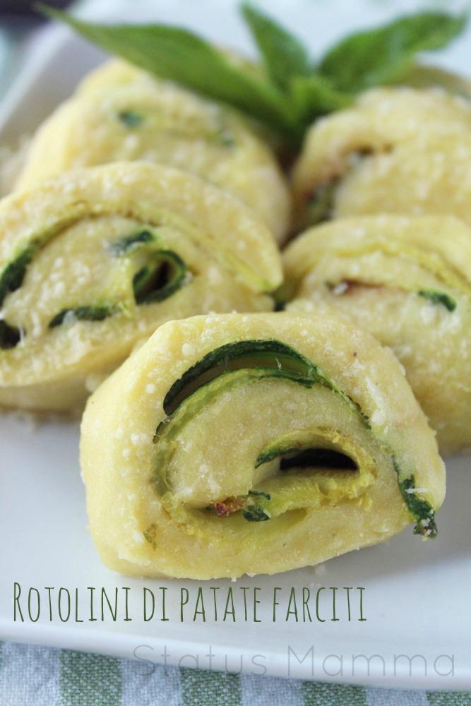 Rotolini di patate farciti con zucchine  ricetta cucinare antipasto Statusmamma blogGz Giallozafferano facile veloce economico
