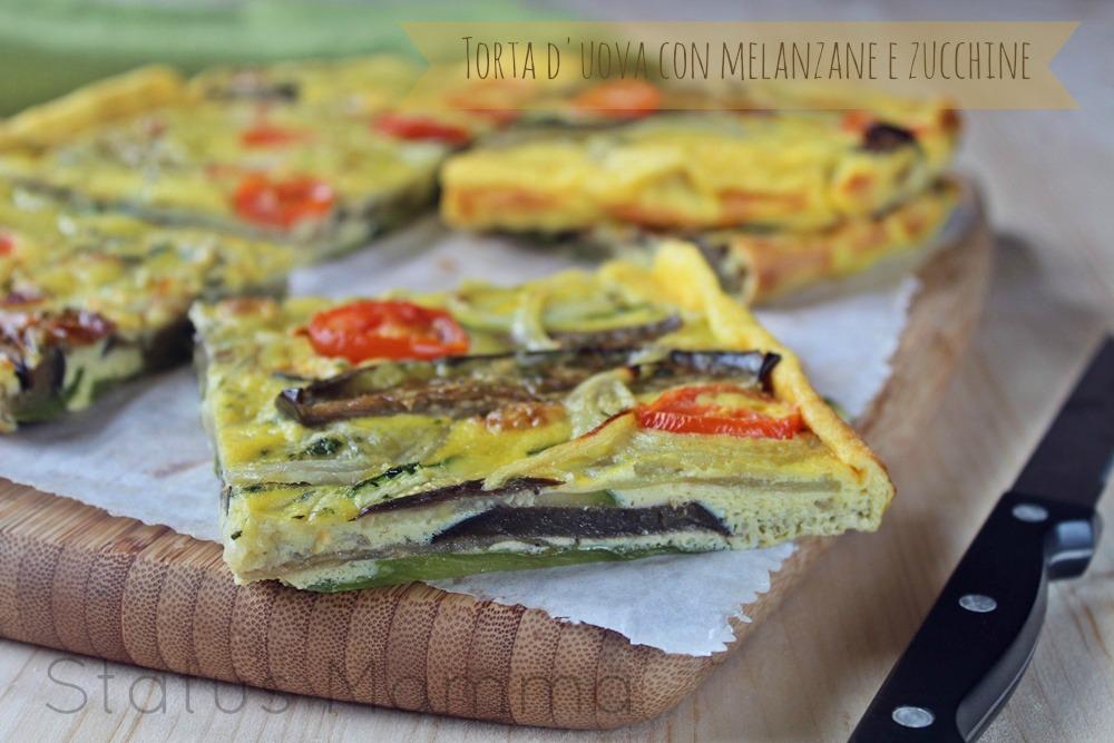 Torta d 39 uova con melanzane e zucchine status mamma for Cucinare 2 uova