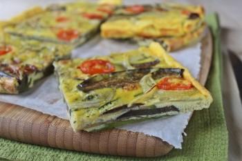Torta d'uova con melanzane e zucchine ricetta salata cucinare vegetariano verdure blogGz Giallozafferano Statusmamma semplice veloce foto passo passo economico
