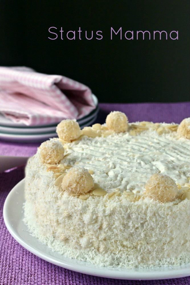 Torta gelato senza gelatiera simil Raffaello facile ricetta dolce estate gelato facile veloce Statusmamma blogGz Giallozafferano passo passo economico semplice