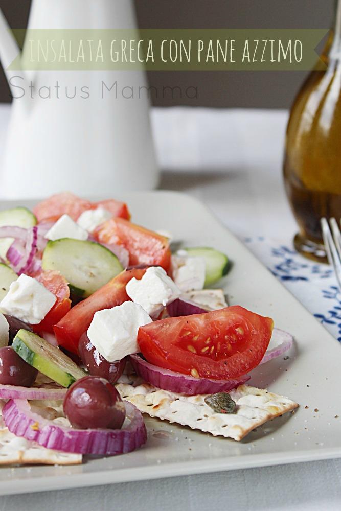 Insalata greca con pane azzimo antipasto piatto freddo estate Statusmamma Giallozafferano blogGz foto economico semplice facile