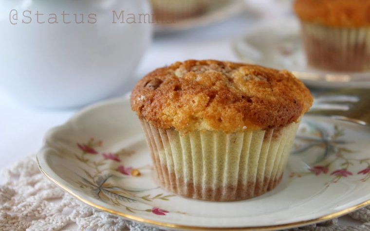 Muffins alla panna marmorizzati al caffè