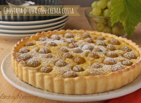Crostata d'uva con crema cotta