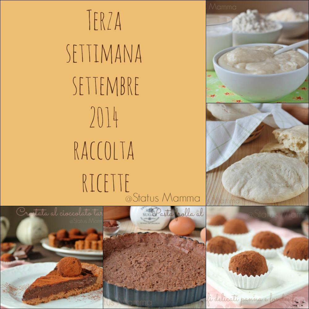 Terza settimana settembre 2014 raccolta ricette foto dolci contorno secondo blogGz Giallozafferano tutorial facile veloce economico