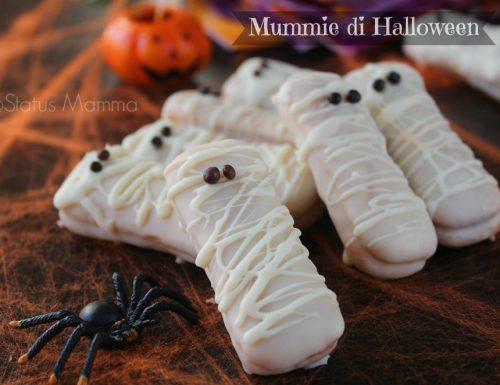 Mummie di halloween con pavesini ricetta facile e veloce