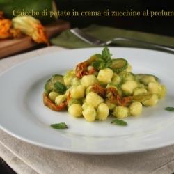 Chicche di patate in crema di zucchine al profumo di menta ricetta primo semplice vegetariano Statusmamma food foodporn blogGz Giallozfferano blog tutorial cucinare ricetta italiana