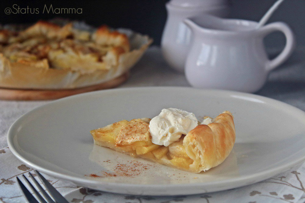 Torta di mele facile con sfoglia Statusmamma dolce colazione merenda bambini semplice Giallozafferano blogGz  foto tutorial  cucina ricette