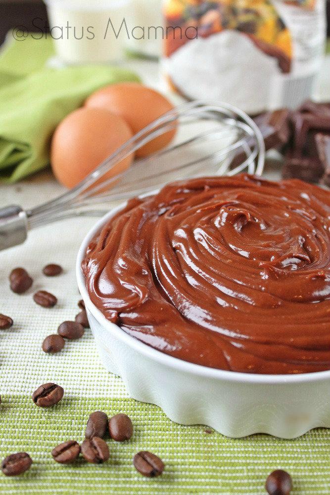 Crema al cioccolato fondente e caffè con ganache knam ricetta cucinare foto blog gz dolci farce cucchiaio Statusmamma blogGz Giallozafferano