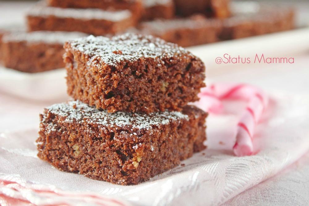 Brownies al pandoro ricetta dolce Statusmamma blogGz Giallozafferano foto blog Tutorial dolce cioccolato fondente