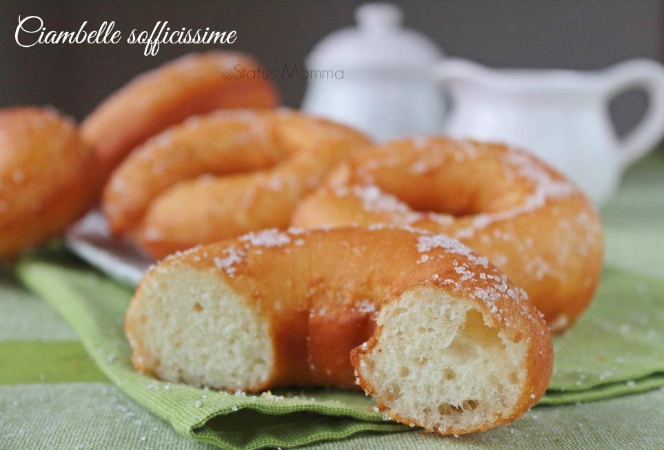 Ciambelle sofficissime ricetta dolce lievitato senza patate soffice fritto  forno graffe zeppole dolce ricetta cucinare Statusmamma